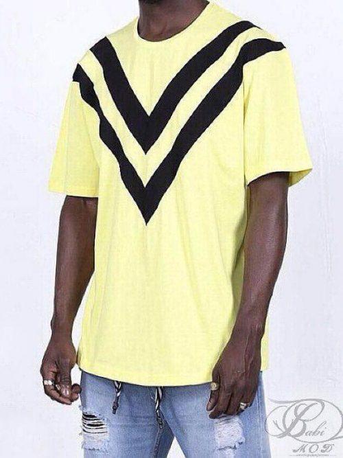 تیشرت آستین سه ربع زرد KNGBRO , تیشرت آستین سه ربع, تیشرت, بابی مد, babimod, تیشرت لش,KNGBRO, تیشرت مردانه, تیشرت زنانه, تیشرت لش, فروش تیشرت, قیمت تیشرت