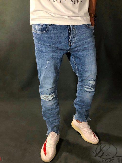 شلوار جین,شلوار جین مام استایل,شلوار جین ZARA MAN,شلوار جین بدون فاق,شلوار جین زاپدار, شلوار ZARA MAN, بابی مد, babimo, شلوار جین آبی, جین, شلوار