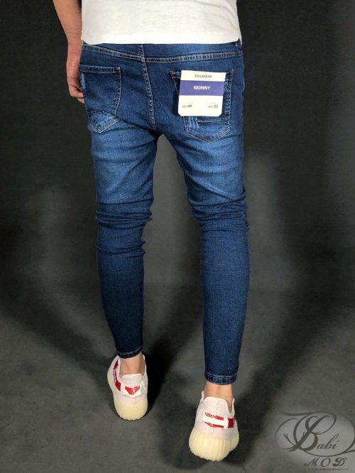 شلوار جین کش اسکینی آبی PULL&BEAR ,شلوار جین کش,شلوار جین PULL&BEAR,شلوار جین اسکینی, شلوار جین, شلوار جین PULL&BEAR, babimod, شلوار پول اند بیر,بابی مد