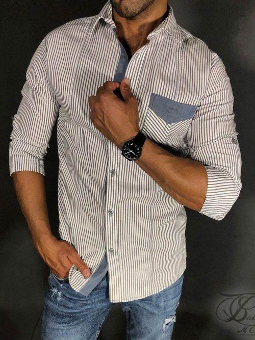 پیراهن دکمه دار روبرتو کاوالی, پیراهن دکمه دار, پیراهن, پیراهن آستین بلند, پیراهن کاوالی,بابی مد,babimod, پیراهن مردانه, پیراهن اسپورت, پیراهن روبرتو کاوالی