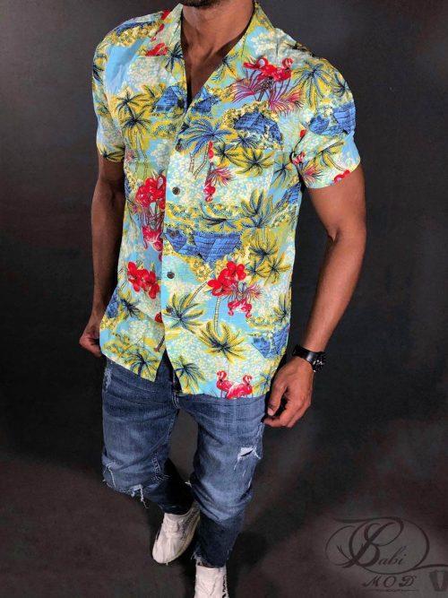 پیراهن هاوایی GEORGE, پیراهن هاوایی, پیراهن, پیراهن دکمه دار, پیراهن GEORGE, بابی مد, babimod, پیراهن مردانه هاوایی, پیراهن زنانه هاوایی, پیراهن طرح هاوایی
