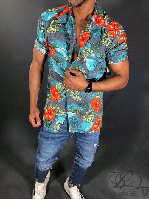پیراهن هاوایی GEORGE, پیراهن هاوایی, پیراهن, پیراهن دکمه دار, پیراهن GEORGE, بابی مد, babimod, پیراهن مردانه, پیراهن زنانه