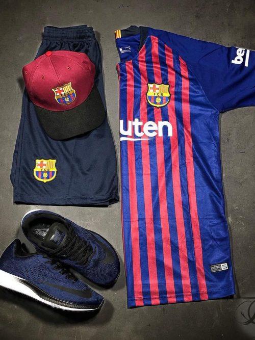 تيشرت و شورت بارسلونا, ست ورزشی, لباس ورزشی, تیشرت و شورت ورزشی, ست ورزشی بارسلونا, شورت ورزشی, تیشرت ورزشی نایک, شورت ورزشی نایک