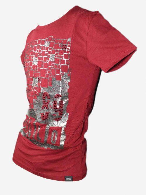 تیشرت مردانه قرمز MACHINIST,تی شرت طرح دار,تیشرت طرح دار,تیشرت,بابی مد,babimod, تی شرت ,تیشرت قرمز, تیشرت مردانه,تیشرت زنانه, فروش تیشرت,قیمت تیشرت