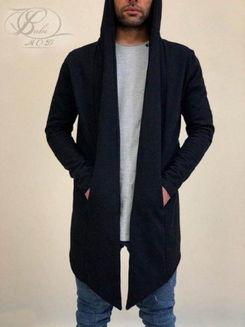 شنل مردانه بلند مشکی DENIM کد 4916