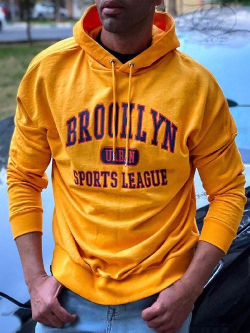 هودی مردانه زرد H&M کد 4783