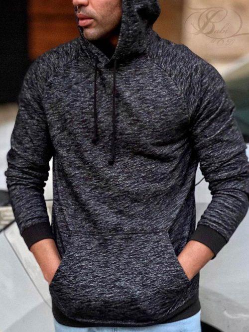 هودی مردانه زغالی H&M کد 4773