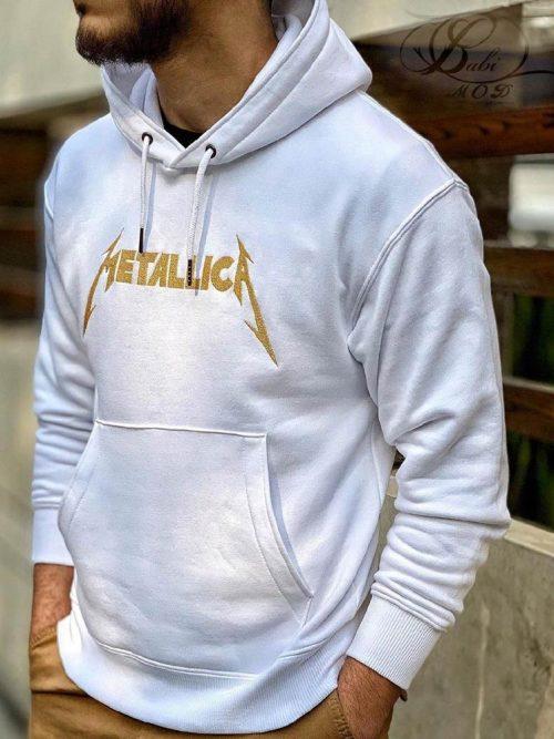 هودی مردانه سفید METALICA کد 4841