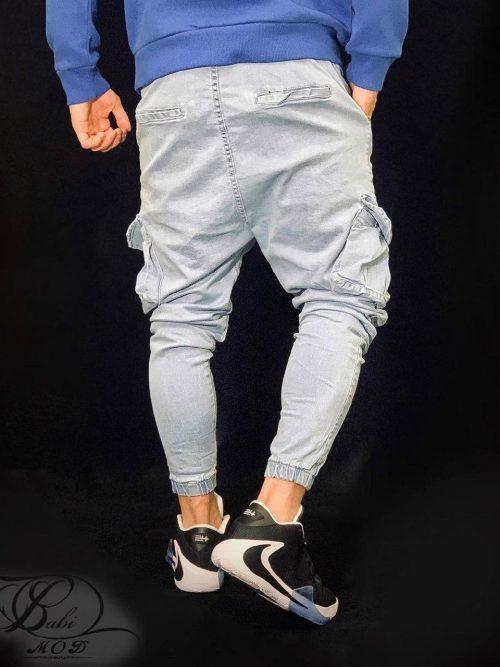 شلوار جین شش جیب آبی JOGGER کد 5097