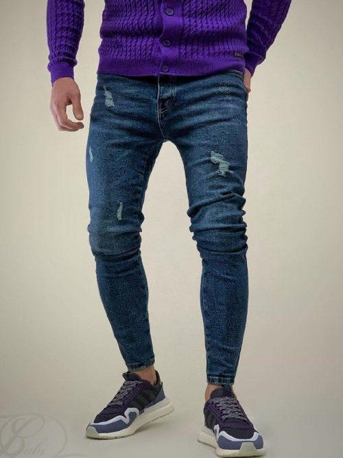 شلوار جین مردانه اسکینی آبی GUCCI کد 5901