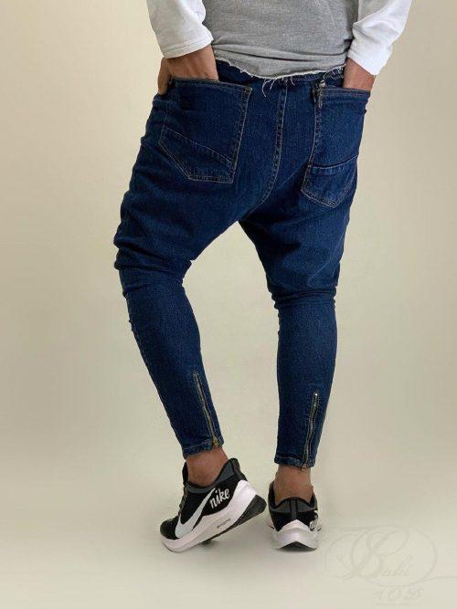 شلوار جین مردانه فاق دار آبی PULL&BEAR کد 6016