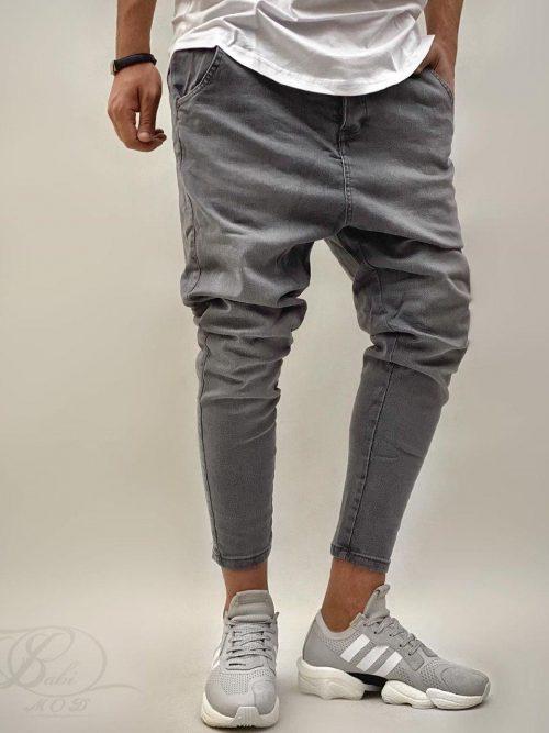 شلوار جین مردانه فاق دار طوسی CATCH کد 6116