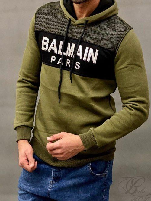 هودی مردانه سبز BALMAIN کد 6045